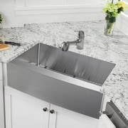 Cahaba Gauge Stainless Steel 33'' x 21'' Apron Kitchen Sink w/ Faucet and Soap Dispenser