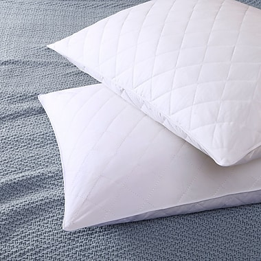 Alwyn Home Quilted Feather Pillow (Set of 2); Standard/Queen