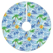 Bayou Breeze Hawaiian Surf Christmas Tree Skirt
