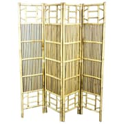 Bayou Breeze Nikhil 71'' x 64'' Foldable Bamboo Screen 4 Panel Room Divider