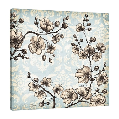 Ophelia & Co. 'Toile Blossoms' Print on Wrapped Canvas; 48'' H x 48'' W