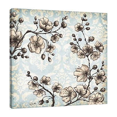 Ophelia & Co. 'Toile Blossoms' Print on Wrapped Canvas; 24'' H x 24'' W
