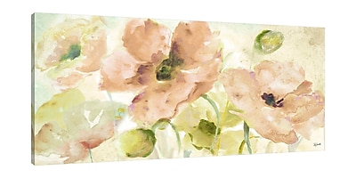 Ophelia & Co. 'Watercolor Blush and Gold' Print on Wrapped Canvas; 30'' H x 60'' W