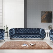 Rosdorf Park Binstead Chesterfield Sofa; Blue