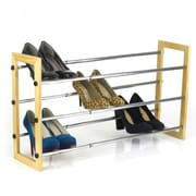 Sweet Home Collection Sunbeam 3 Tier Expandable 15 Pair Shoe Rack