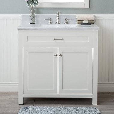 Red Barrel Studio Cecilton 36'' Single Bathroom Vanity Set; White