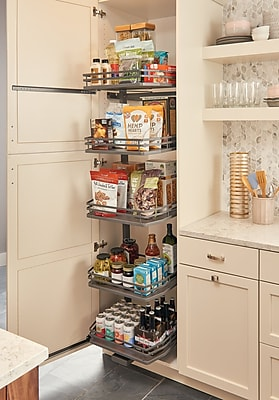 Rev-A-Shelf Orion-Gray Swing Out for 18 in. Pantry; 74.06'' H x 14.25'' W x 18.5'' D