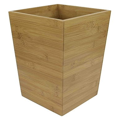 Sweet Home Collection Bamboo Waste Basket