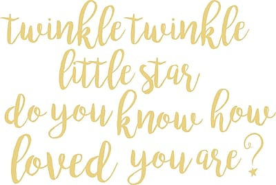 WallPops! Twinkle Little Star Quote Wall Decal