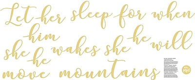 WallPops! Move Mountains Wish Wall Decal