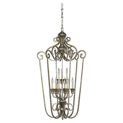 Astoria Grand Beauford 9-Light Foyer Pendant; Palladium