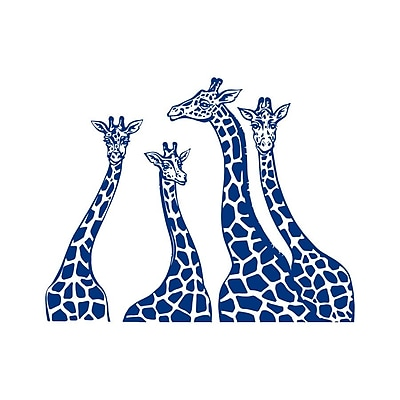 Decal House Giraffe Family Wall Decal; Blue
