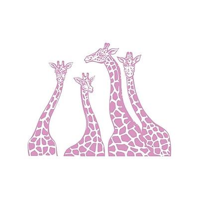 Decal House Giraffe Family Wall Decal; Lilac