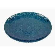 Bungalow Rose Kanisha Quilted Serving Platter; Dark Blue