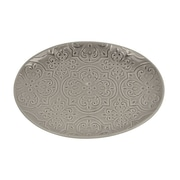 Bungalow Rose Kanisha Quilted Serving Platter; Gray
