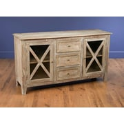 Darby Home Co Vermillion 3 Drawer Accent Cabinet; Weathered Sand