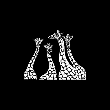 Decal House Giraffe Family Wall Decal; White