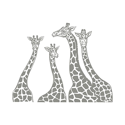Decal House Giraffe Family Wall Decal; Silver Gray