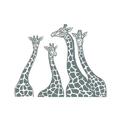 Decal House Giraffe Family Wall Decal; Gray