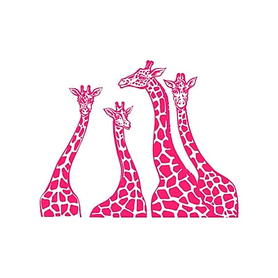 Decal House Giraffe Family Wall Decal; Hot Pink