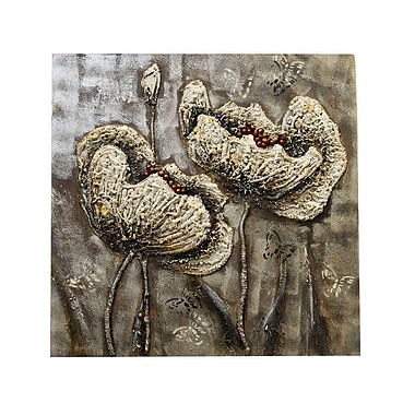 Latitude Run Butterflies and Flowers Oil Painting Print on Canvas