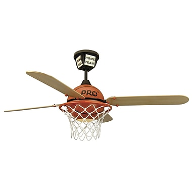 Zoomie Kids 52'' Destiney ProStar Basketball 4-Blade Fan w/ Remote