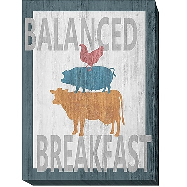 August Grove 'Balanced Breakfast One' Oil Painting Print on Wrapped Canvas; 16 in. H x 12 in. W