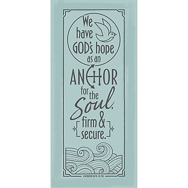 Winston Porter 'We Have God's Hope as an Anchor for the Soul' Textual Art on Wood