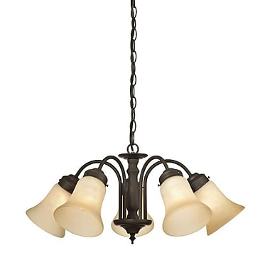 Charlton Home Redmon 5-Light Shaded Chandelier