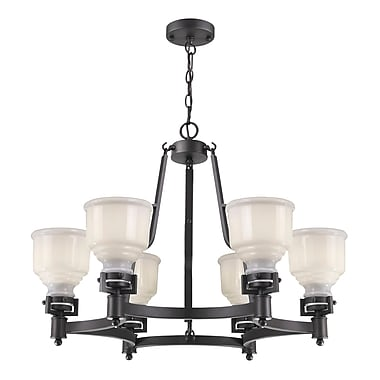 Gracie Oaks Melynnie 6-Light Shaded Chandelier