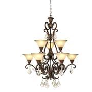 Astoria Grand Ironwood 9-Light Shaded Chandelier