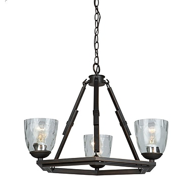 Gracie Oaks Shrinivas 3-Light Candle-Style Chandelier