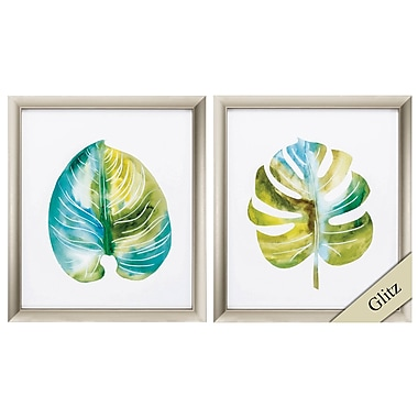 Bay Isle Home 'Ocean Side Palms' 2 Piece Framed Print Set