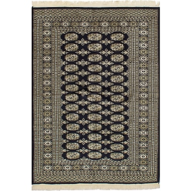 Bloomsbury Market Olney Springs Hand-Knotted Wool Rectangular Dark Navy Indoor Area Rug
