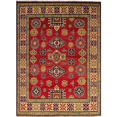 Bloomsbury Market Bernard Hand-Knotted Weave 100pct Wool Red Geometric Indoor Area Rug