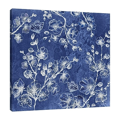 Bloomsbury Market 'Asian Tile Blossom' Print on Wrapped Canvas; 30'' H x 30'' W