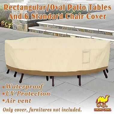 Freeport Park Rectangular Patio Garden Chair/Table Cover; 22.83'' H x 84'' W x 110'' D