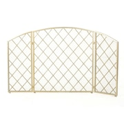 Home Loft Concepts Manny 3 Panel Iron Fireplace Screen; Gold