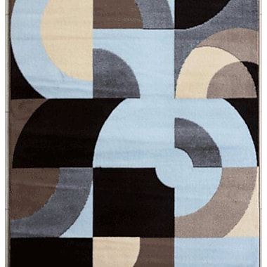 Ebern Designs Warden Blue Area Rug; Runner 2' x 7'2''