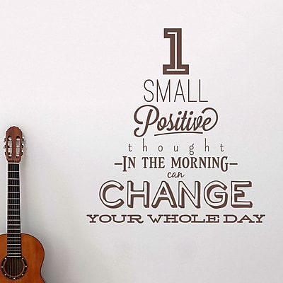 Wallums Wall Decor 1 Small Positive Thought Quote Wall Decal; Chocolate Brown