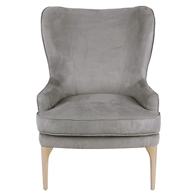 Brayden Studio Engelman Wingback Chair; Denim Dove Gray