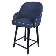 Brayden Studio Coster Swivel Bar Stool; Denim Slate Blue