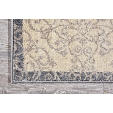 Charlton Home Coulston Ivory Indoor Area Rug; Rectangle 5' x 7'3''