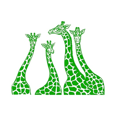 Decal House Giraffe Family Wall Decal; Lime Tree Green