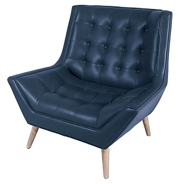 Brayden Studio Aquino Club Chair; Vintage Blue