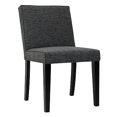 Brayden Studio Ingham Upholstered Dining Chair; Black