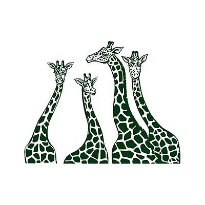 Decal House Giraffe Family Wall Decal; Green