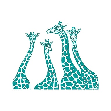 Decal House Giraffe Family Wall Decal; Turquoise