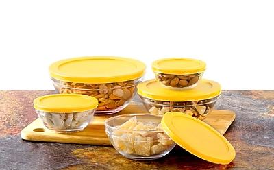 Rebrilliant Multi Purpose 5 Container Food Storage Set; Yellow