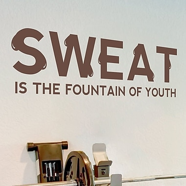 Wallums Wall Decor Sweat is the Fountain of Youth Quote Wall Decal; Chocolate Brown